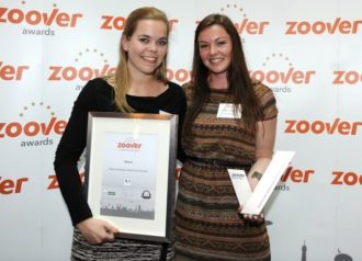 noSun wint wederom ZOOVER award