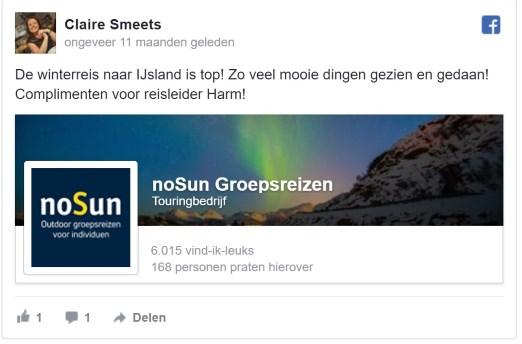 5 sterren review noSun groepsreis avontuurlijk