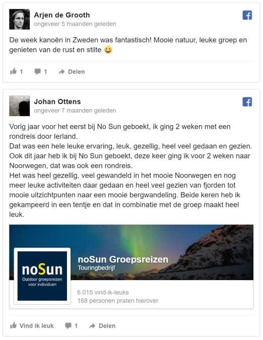 5 sterren review noSun single reizen avontuurlijk