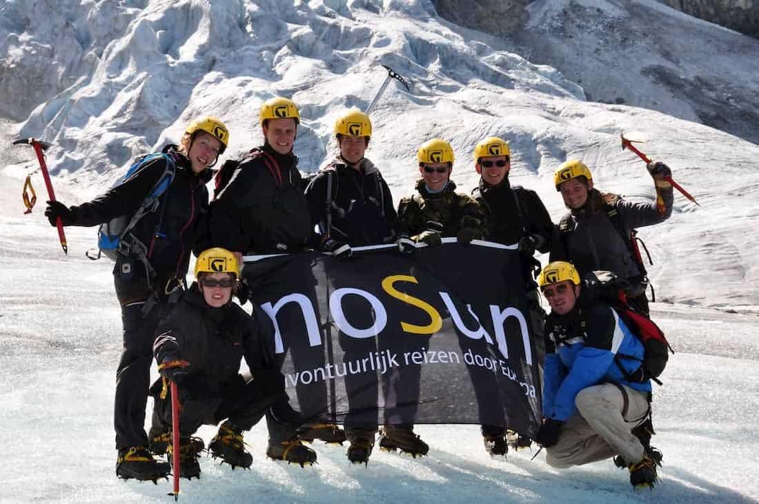 Groep na gletsjerhike