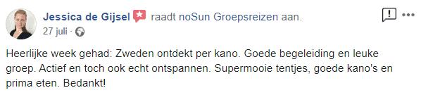 review nosun zweden kanoreis