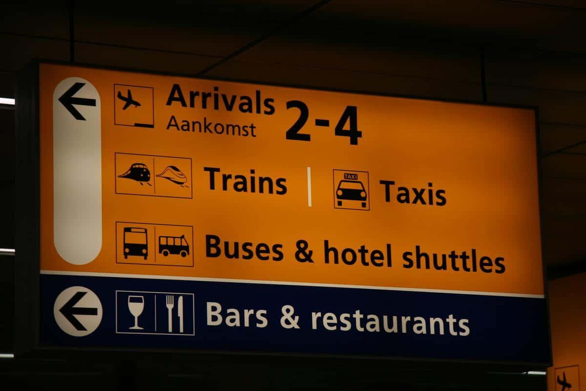 Bewegwijzering Schiphol noSun
