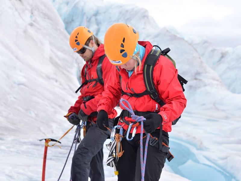 spitsbergen actieve singlereis gletsjer hike