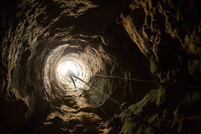 abseilen in grot